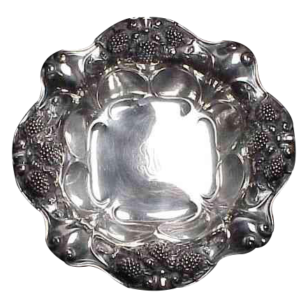 Gorham Sterling Bowl decorated with Blackberries