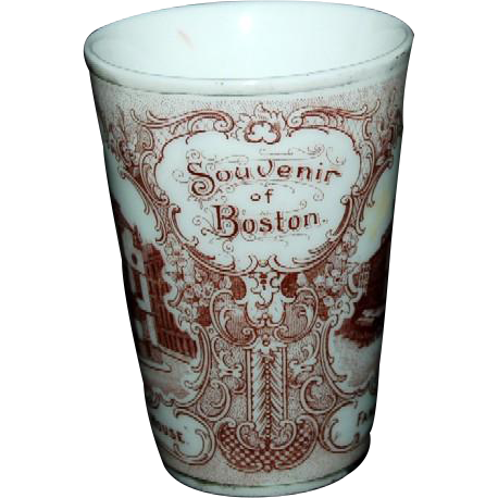 1890's Souvenir Porcelain Tumbler of Boston, Massachusetts Views