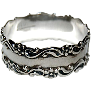 Heavy Sterling Napkin Ring
