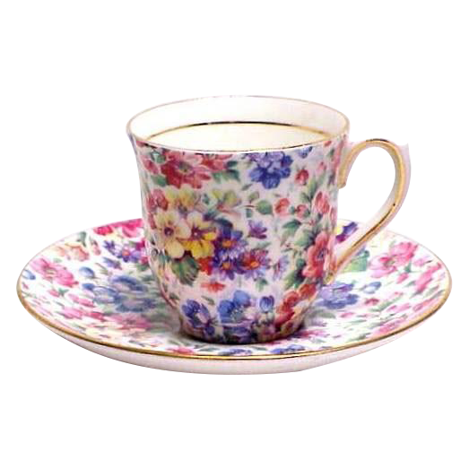 Colclough China Chintz Demitasse Cup & Saucer