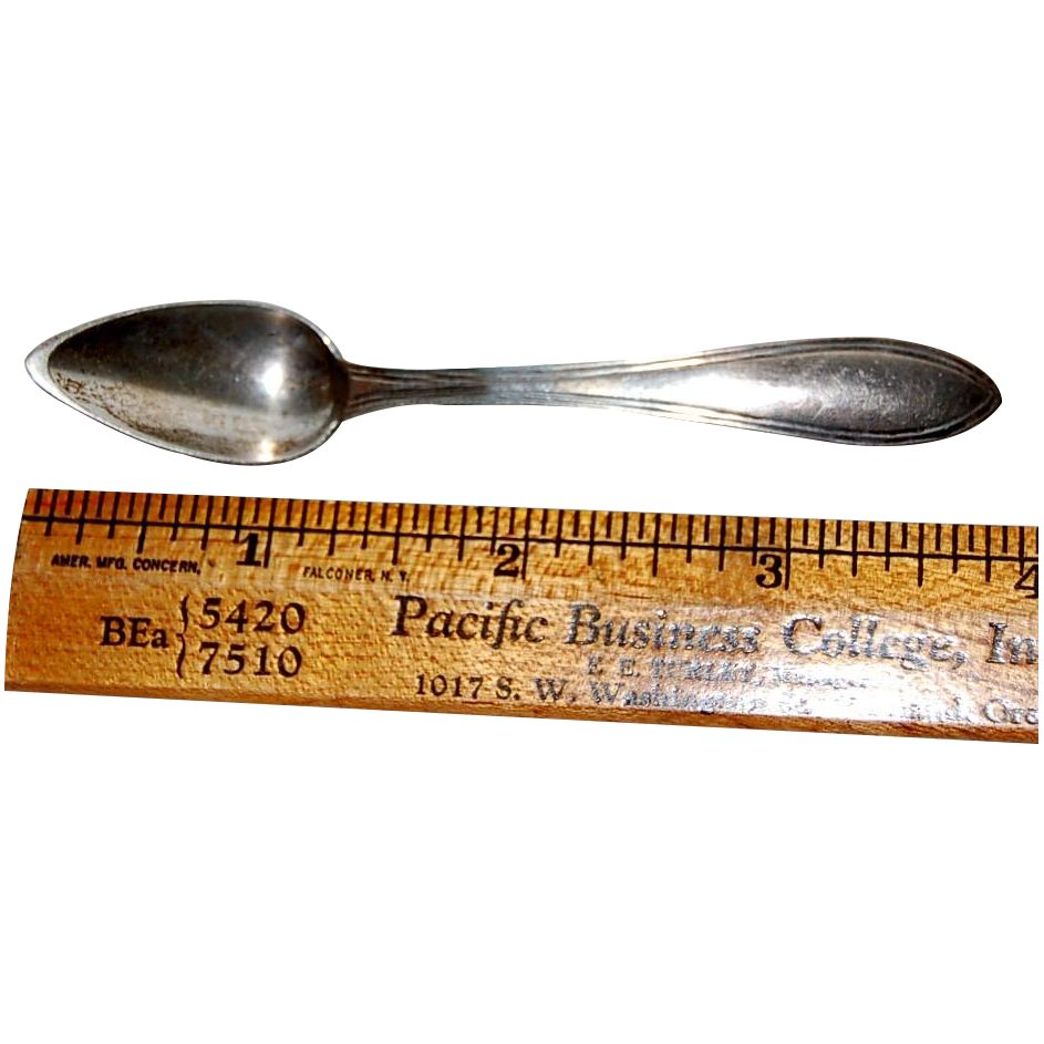 Silver Netherlands Demitasse Spoon ca 1844