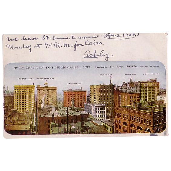 "Postcard ""Panoramic View  of High Buildings in St. Louis Missouri"""