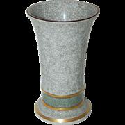 """1930's Royal Copenhagen 5 1/2"""" tall Eames Era Krakelee Vase"""