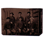 Tintype Photo with an image of 6 Men