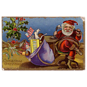 Sample Postcard of Santa on the Telephone