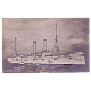RPPC U.S.S. Chicago Postcard