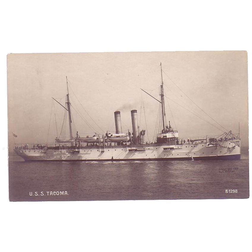 RPPC  U.S.S. Tacoma  Cruiser