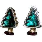 Tiny Little Holiday Christmas Tree Pierced Earrings