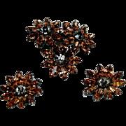 Fine Vintage Weiss Parue, Brooch & pair of Earrings