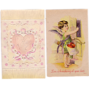 (2) Valentine Postcards