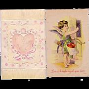 (2) Valentine Postcards
