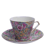 "Lord Nelson Chintz (BCM Nelson ) "" Briar Rose"" No. 34 Floral Chintz Cup & Saucer"