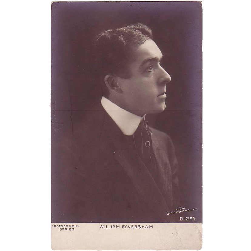 "RPPC "" William Faversham Actor """