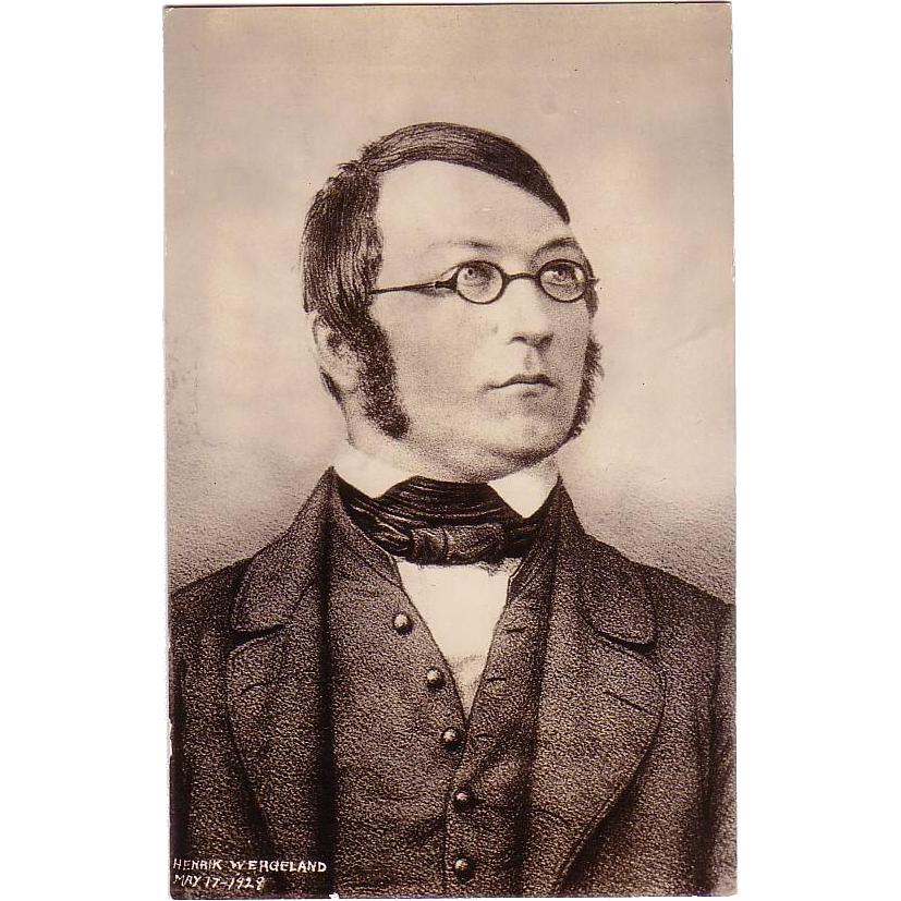 """RPPC """" Henrik Wergeland Norwegian Poet """""""