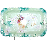 Beautiful Floral Unmarked R S Prussia Dresser Tray