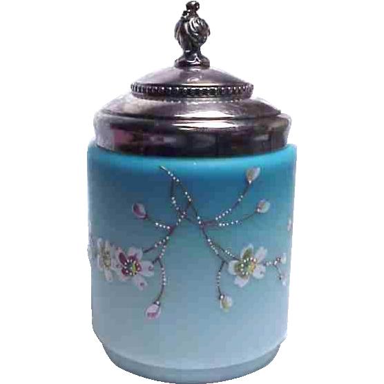 Wonderful Mt Washington Cased Glass Cracker Jar/Biscuit Barrel