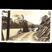 "RPPC ( Real Photograph Post Card ) ""Fyac Lake Highway Cordova, Alaska"""