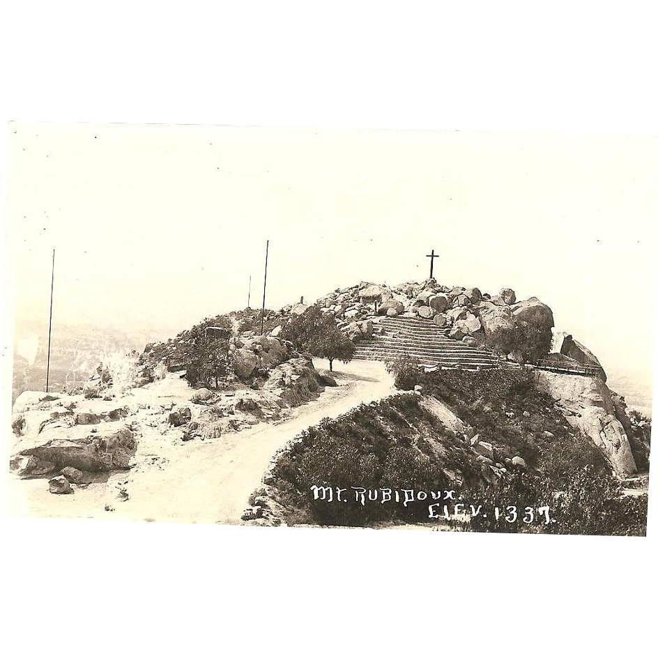 "RPPC ""Mt Rubidoux""  Riverside California Post Card"