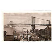 "RPPC ""The New Manhattan Bridge New York""."
