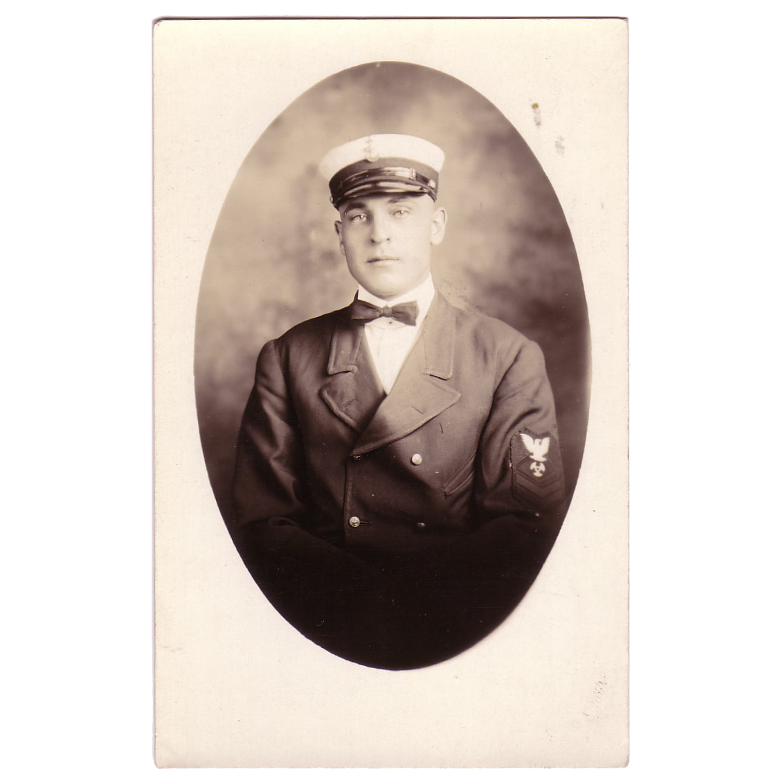 "RPPC  of a Sailor in Uniform "" USS Philip "" dated 1919"