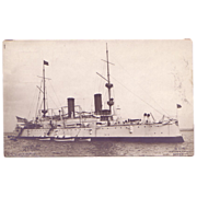 "Real Photograph Postcard  ""U.S.S. Olympia"" (C-6)"