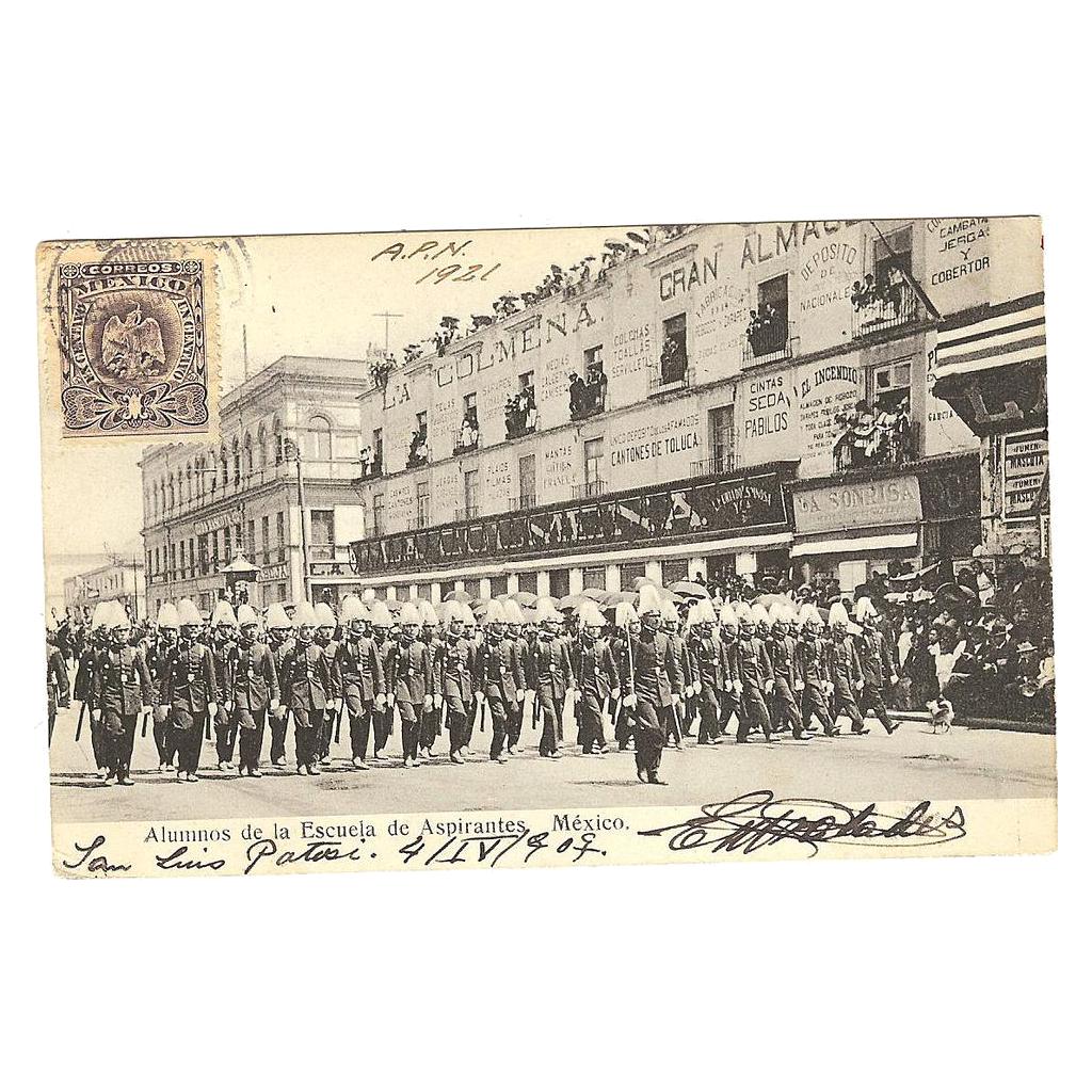 """Postcard """" Alumnos de la Escuela de Aspirantes Mexico"""""""