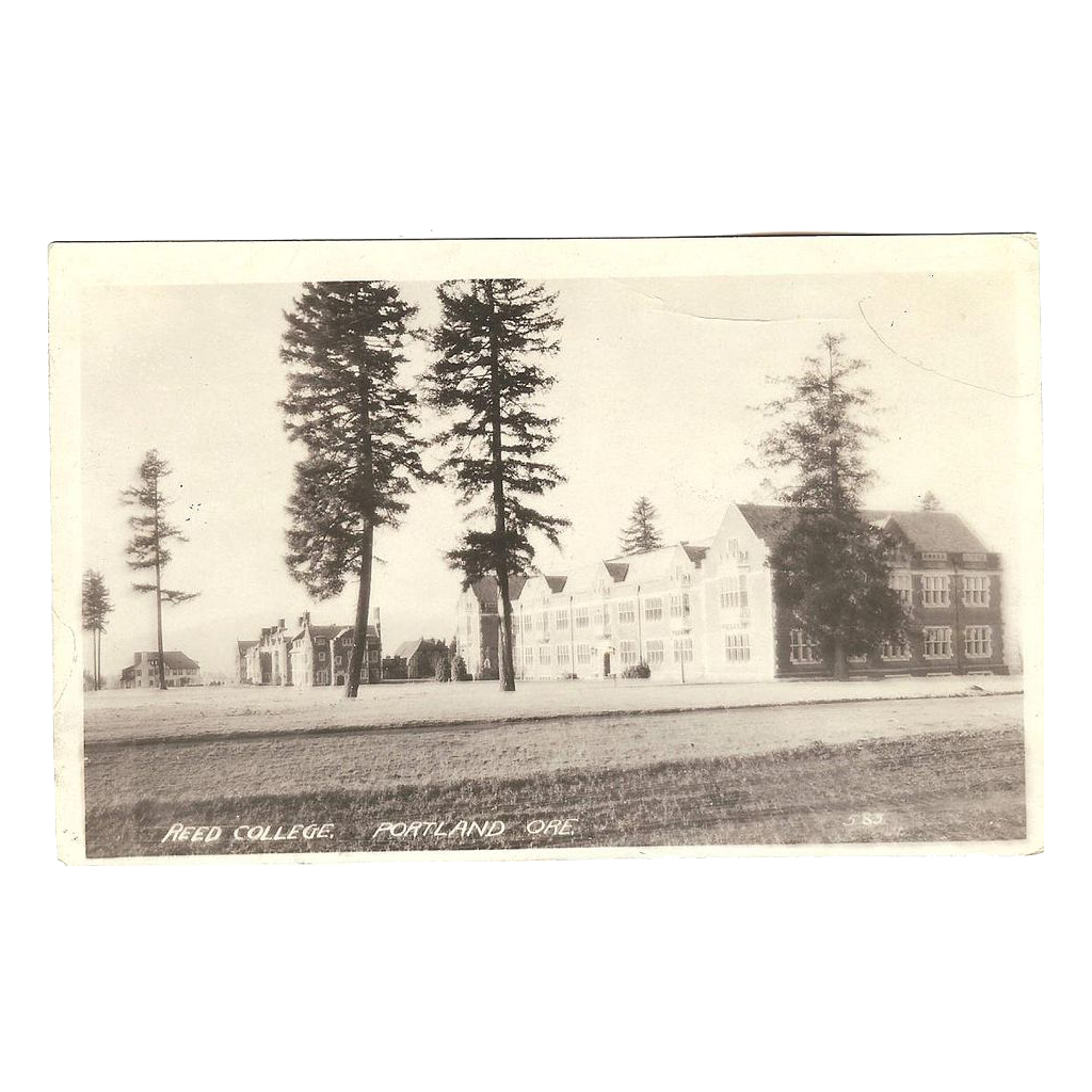 "RPPC ""Reed College in Portland Oregon"" Postcard"