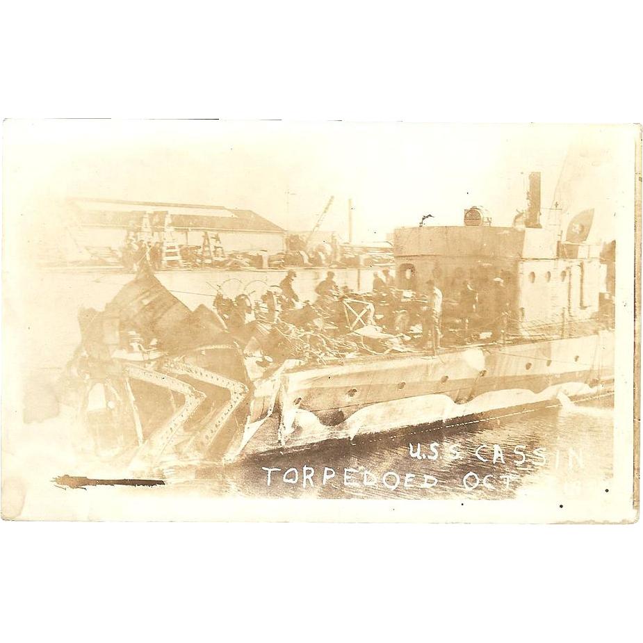 RPPC USS Cassin DD43 Torpedoed in Oct. 15, 1917