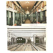 (2) Early NY Subway Postcards