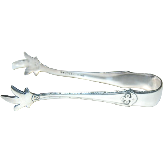 Wallace Carmel Pattern 1912 Arts & Crafts Sterling Sugar Tongs