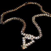 Sparkly Rhinestone Necklace w/ Diamond Shape Design of Stones