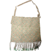 Delicate & Dreamy Vienna Austria 1900's Evening Beaded Pouch Bag