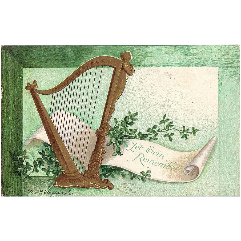 Postcard St Patrick's Day Artist Signed Ellen H. Clapsaddle dated 1908