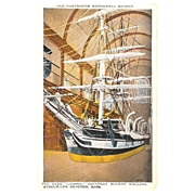 """Postcard """" The Lagoda """" in the Jonathan Bourne Whaling Museum """""""