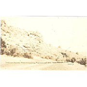 "RPPC ""Indianhead, Warmspring Reservation Near Mecca, Oregon"""