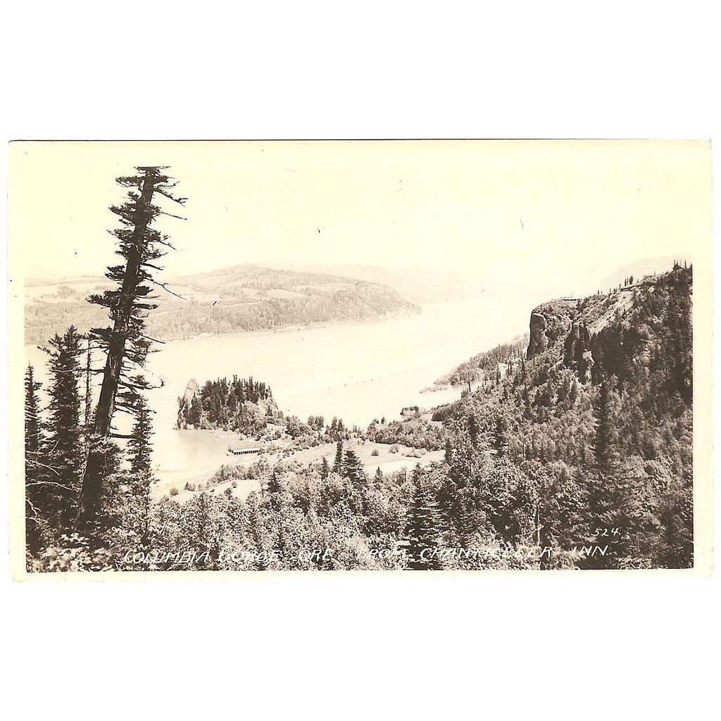 R.P.P.C. Columbia River Gorge Oregon View from Chanticleer Inn.