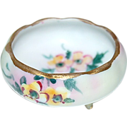 Hand Painted Nippon Individual (3) Footed Salt
