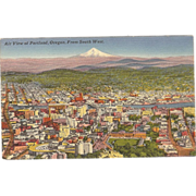 "Postcard ""Air View of Portland Oregon"" from South West"