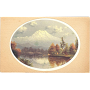 "Postcard "" Eliza Barchus"" Listed Portland Oregon Artist of ""Mount Hood """