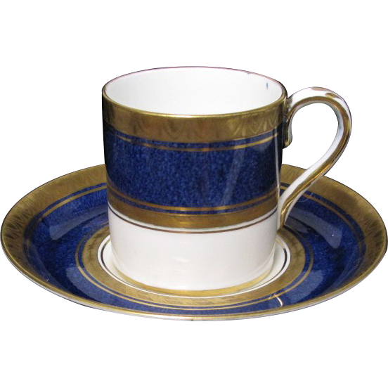Exceptional Crown Staffordshire Demitasse Cup & Saucer Set