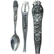 Scarce Gambling Sterling Souvenir Spoon