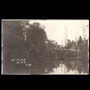 "RPPC Photograph of the  ""Nestucca River Oregon"""