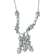 Antique Dangling Rhinestone Necklace