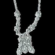 Antique Dangling Rhinestone Necklace