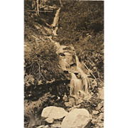 "RPPC Photograph of ""Prayter Falls in Ashland, Oregon"""
