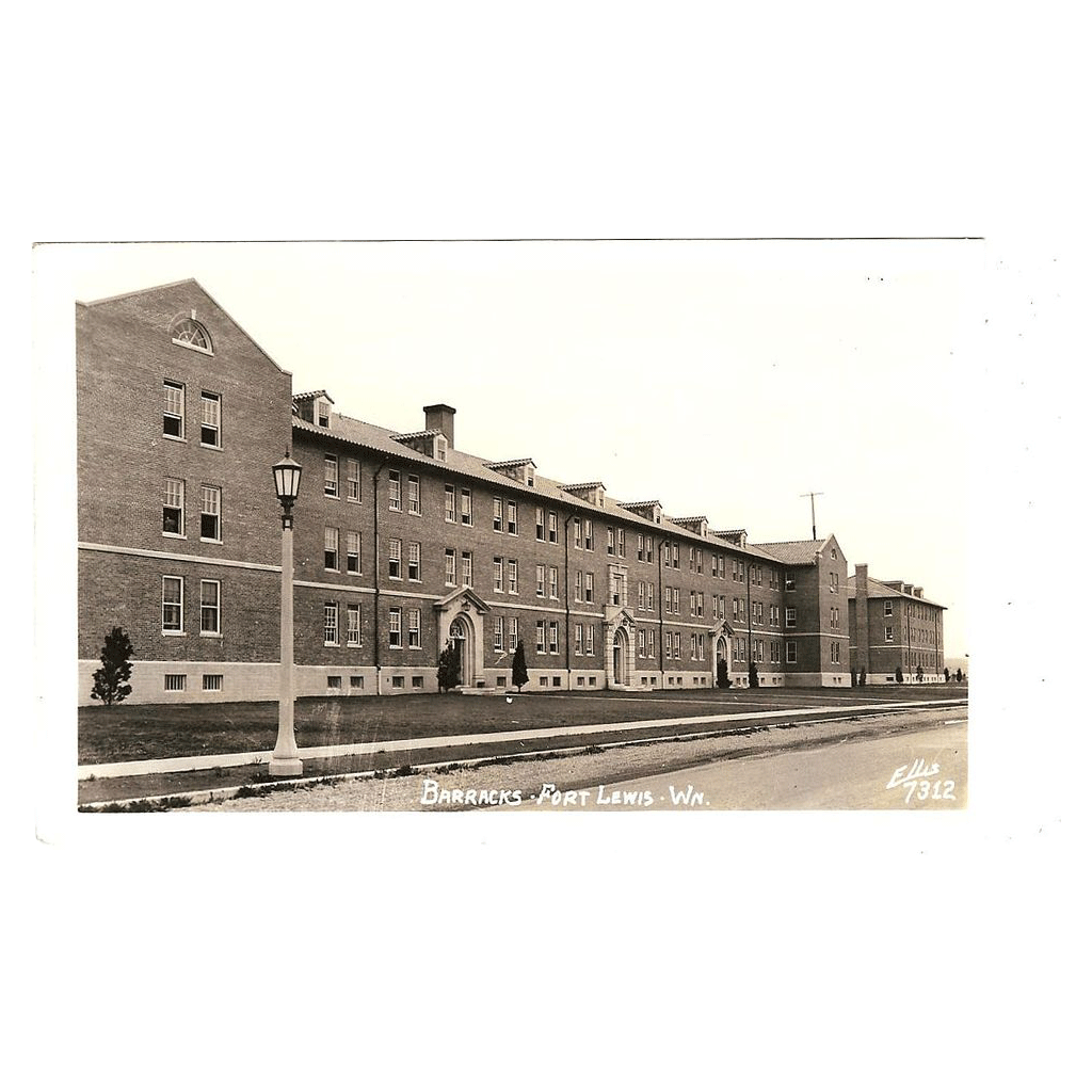 "Postcard ""WWII Barracks Fort Lewis Washington"""