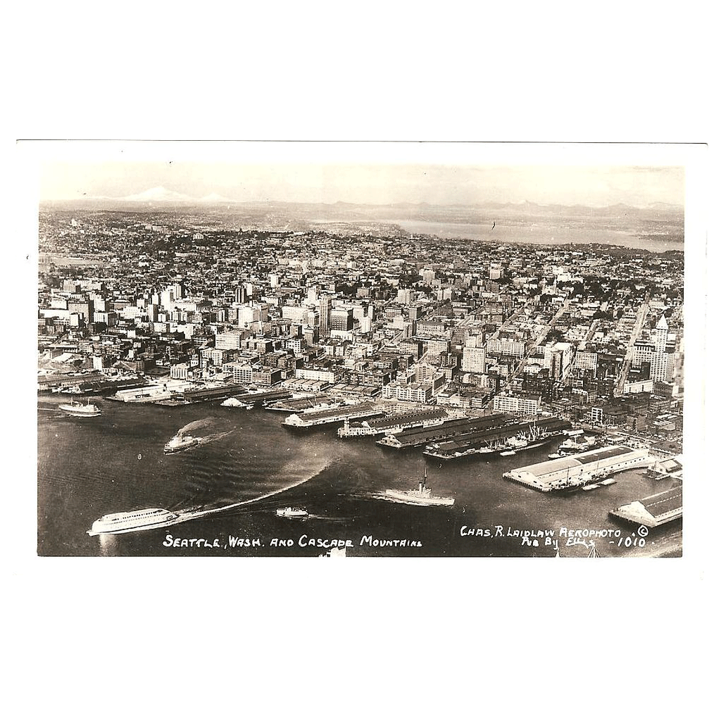 "RPPC "" Seattle Wash & Cascade  Mountains"""