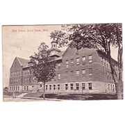 "Postcard ""High School Grand Haven , Mich."""