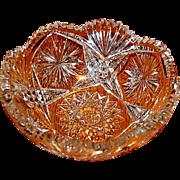 Fine Brilliant Period American Cut Glass Bowl