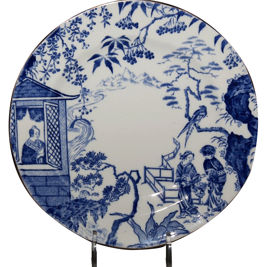 "Royal Crown Derby 6 & 1/8"" Bread & Butter Plate ( Blue Mikado Pattern)"